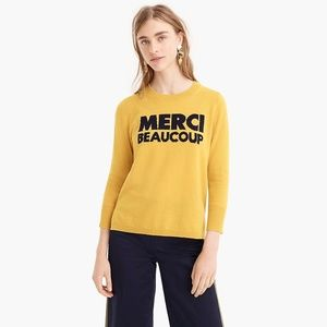 J Crew Everyday Crewneck Cashmere Sweater (Yellow)